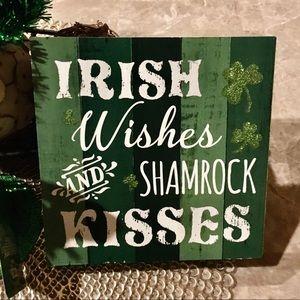 Rustic St. Patrick's Day Irish Wood Sign